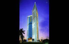 卡塔尔双子塔亮化设计方案