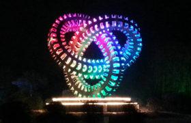 """兖州灯光雕塑""""循环"""""""