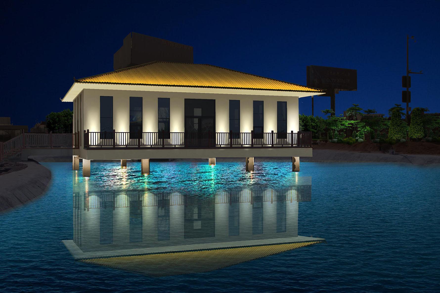 泰安市宁阳中京小镇度假村灯光设计